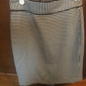 BR Black/White Houndstooth check pencil skirt 00P